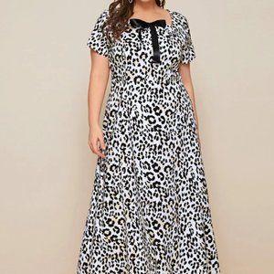 NWOT leopard print full length dress